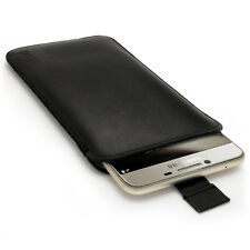 Black Leather Pouch Case for Samsung Galaxy C7 SM-C7000 Sleeve Skin Cover