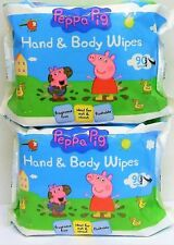Peppa Pig Flushable Toddler/Baby Hand and Body wipes 2x90pack