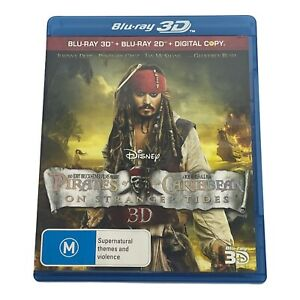 Pirates Of The Caribbean On Stranger Tides 3D Blu Ray DVD