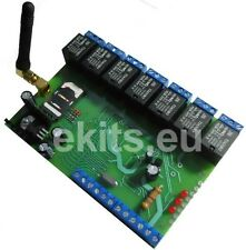 DTMF GSM Remote Controller with 7 relays and 4 inputs / Gate Opener