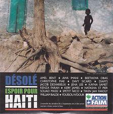 CD CARTONNE CARDSLEEVE DESOLE HAITI MAE/DIAMS/FAKOLY/ST PIER NEUF SCELLE