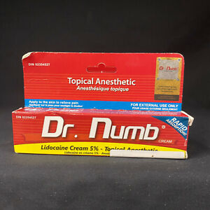 Dr Numb 5% Cream 30 gr Skin Numbing for Body Ink, Waxing Piercing New Exp 3/22