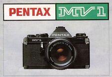 PENTAX MV1 SLR 35mm CAMERA OWNERS INSTRUCTION MANUAL -from 1980s-MV 1
