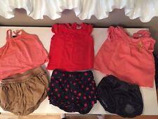GAP & ZARA Baby girl Shorts And Shirt Sets Size Varies 6-18 Months