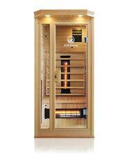 Hemlock Wood Ceramic FAR Infrared Heated 1 Person Indoor Sauna