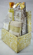 AFFLUIANA JASMINE SPA SET SHOWER GEL BATH CRYSTALS SOAP PETALS & TOWEL
