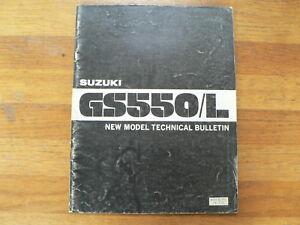 SUZUKI GS550/L NEW MODEL TECHNICAL BULLETIN 1980 MOTORCYCLE BIKE GS 550 L MOTORR