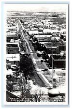 Postcard Main Street in Winter (Snow), Susanville, California CA RPPC  D16