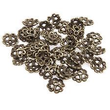 100pcs 8mm Charms DIY Jewelry Flower Bead Cap Tibet Silver Spacer Bracelet