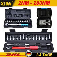 ✅Drehmomentschlüssel 1/2 1/4 Zoll Drehmoment 2-200 NM Werkzeug Ratsche Schlüssel