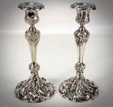 Antique Art Nouveau Quadruple Silver Plate Candlesticks Candle Holder Set WOWWW