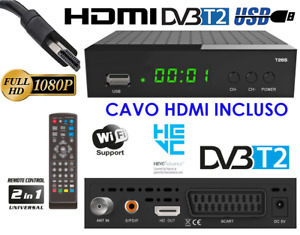 Decoder Digitale Terrestre DVB T2 HDMI DVB-T2 HEVC Full HD Ricevitore TV H265