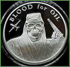 2017 1oz Blood For Oil Proof Silver Shield Group SSG Death of the Dollar #4 ***