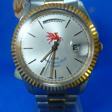 USED TEAM ISSUED UCLA 1989 Mobil Cotton Bowl CLASSIC WATCH Swiss Made