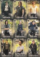 THE WALKING DEAD HUNTERS AND THE HUNTED 2018 TOPPS COMPLETE BASE CARD SET 100 TV