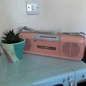Sharp QT-50 Pink 80s Vintage Cassette Tape Player Boombox Retro Stranger Things