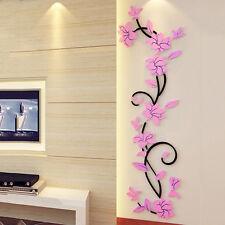 3D Flower Home Room Decor DIY Wall Sticker Removable Acrylic Decal Vinyl Mural