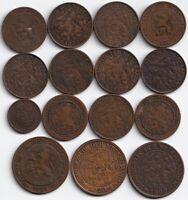 NETHERLANDS HERINNERINGSSERIE 5 Coins set 1940-1945 WW II Restrike 1-25 cents