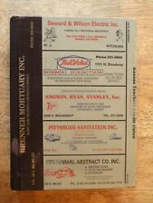 1990 PITTSBURG KS KANSAS DIRECTORY city PHONE BOOK POLKS OLD GENEALOGY ancestry