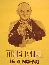 PROPAGANDA SATIRE POPE PAUL VI PILL SEX WOMEN HEALTH ART POSTER PRINT LV7021