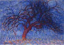 'L''albero rosso quadro - Stampa d''arte su tela telaio in legno'