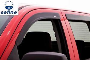 AVS 4Pc Matte Black Window Vent Visor For 07-14 Chevy GMC 1500 2500 3500  774007