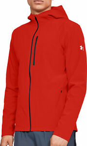 Under Armour Outrun The Storm Mens Running Jacket - Red