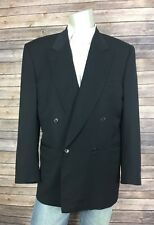 Canali Blazer Mens Size 52R / US 42R Navy Wool Double Breasted 4 Button