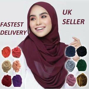 CHIFFON hijab high quality SCARF elegant sarong shawl wrap plain maxi soft