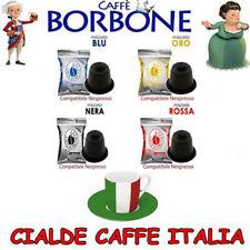 Mix 100 Capsule Caffè Borbone Blu Rosse Nere Oro Compatibili Nespresso