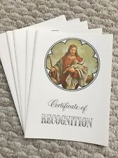 Vintage Christian Certificate of Recognition by CR GIBSON * Lot of 5 *