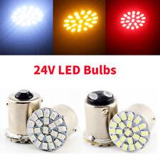 10Pcs 24V DC 1156 BA15S / 1157 BAY15D 1206 22SMD LED Turn Signal Reverse Lights