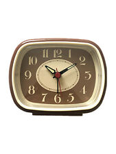 Vintage Mid Century Retro TV Style Alarm Clock Table Desk clock