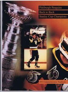 1992 PITTSBURGH PENGUINS BACK-TO-BACK STANLEY CUP YEARBOOK - Mario Lemieux
