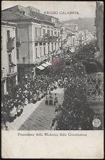 cartolina REGGIO CALABRIA processione della madonna della consolazione