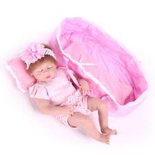 "22"" Girl Doll Lifelike Newborn Babies Full Body Vinyl Silicone Reborn Baby Dolls"