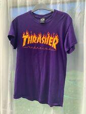 Thrasher Magazine logo T-Shirt Púrpura SKATE TALLA S