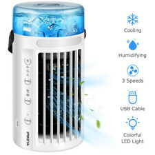 Portable Air Conditioner Cooler 8 LED Light Cooling Fan Humidifier Artic Office