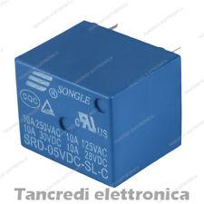 Relè 5V 5Vdc per circuito stampato 250V 10A relay deviatore SRD-05VDC-SL-C