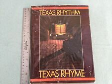 VINTAGE BOOK TEXAS RHYTHM TEXAS RHYME 1984 SIGNED LARRY WILLOUGHBY HISTORY MUSIC