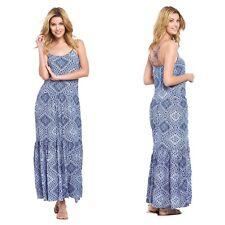 V by Very Bleu Multi Ethnique Imprimé Boho Robe Longue Taille 18 été vacances Fab £ 37