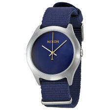 Nixon Mod Navy Blue Dial Navy Nylon Mens Watch A348307