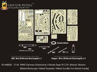 Griffon 1/144 #N144B003 U-Boat Type VII C/41 Atlantic Version Etching Parts