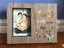 """Family LED Light Up Photo Picture Frame 6x4"""" Gift Present Home Decoration"""