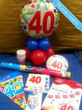 KIT FESTA 40 ANNI Addobbo completo 40° compleanno Tavola Festoni Sparacoriandoli