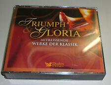 4 CD 'S TRIUMPH GLORIA MITREISSENDE WERKE DER KLASSIK READER'S DIGEST WIE NEU