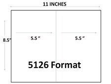 200 Premium Half Sheet Self Adhesive Shipping Labels 85 X 55 Laserinkjet