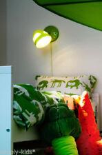 "KEA Barnslig Ulven Twin Reversible Duvet set Green White Modern Critters 64x86"""