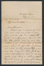 1906 Gulfport Pat Ryan Baseball Player 5 Page Letter GREAT CONTENT