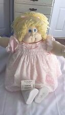 1981 Soft Sculpture Little People Doll Cabbage Patch Blonde Girl Signed Papers